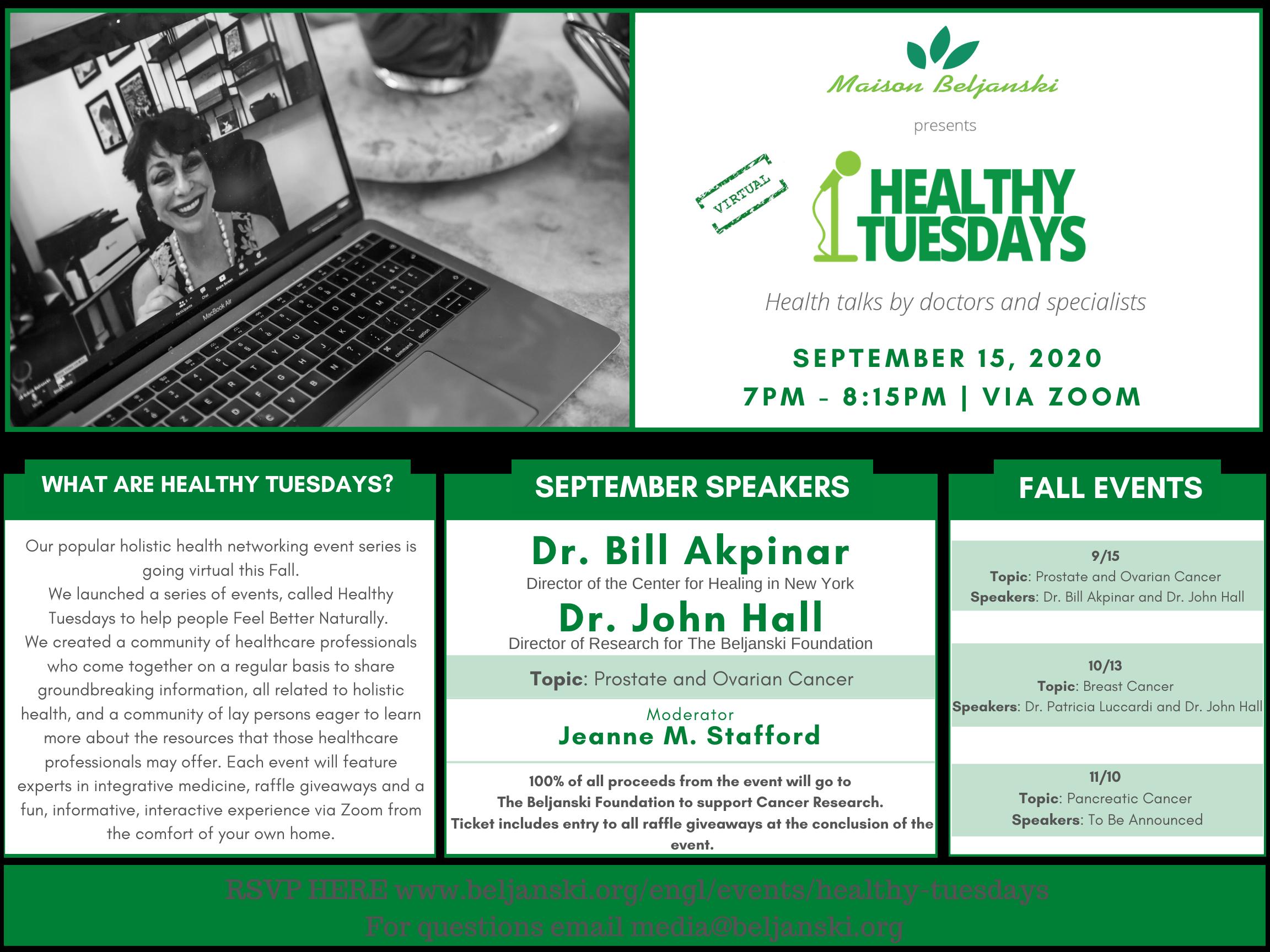 Virtual Healthy Tuesdays Invitation